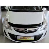 Дефлектор капота Opel Corsa (Опель Корса) D (2006-) (темный)