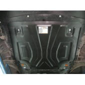 Защита картера двигателя и кпп Nissan Qashqai (V-все, 2014-)  А штамп. (Сталь 1,8 мм)