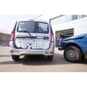Защита заднего бампера труба d42mm Lada Largus/Dacia Logan MCV