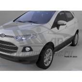 Пороги алюминиевые (Alyans) Ford EcoSport (2014-)