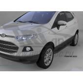 Пороги алюминиевые (Corund Black) Ford EcoSport (2014-)