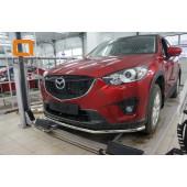 Защита переднего бампера Mazda CX5 (2012-2015 /2015-) (одинарная) d 42