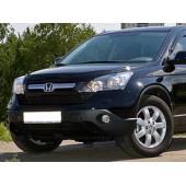 Дефлектор капота Honda (Хонда) CR-V (2007-2010) (темный)