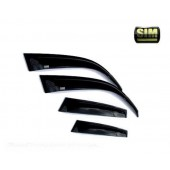 Дефлекторы боковых окон Opel Astra (Опель Астра) J WG (2010-) (4 части) (темные)