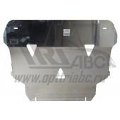 Защита картера двигателя и кпп Volvo (Вольво) V40, V-все (2013-)  (Алюминий 4 мм)