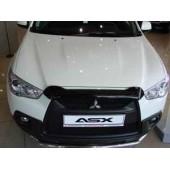 Дефлектор капота Mitsubishi ASX (Митсубиши ASX) (2010-2013) короткий (темн.)SIM