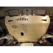 Защита картера двигателя и кпп Honda (Хонда) Civic (Цивик) 5D хэтчбек,V-1,8 (2006-11)  (Алюминий 4 мм)