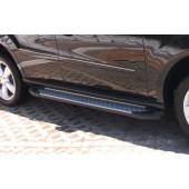 Пороги алюминиевые (Sapphire Silver) Ford Explorer (2011-)