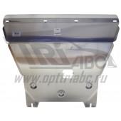 Защита картера двигателя и кпп Kia Sportage (Киа Спортаж) V-все (2010-)  (Алюминий 4 мм)