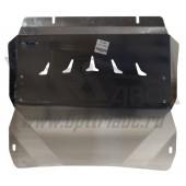 Защита картера двигателя и кпп Cadillac SRX V-3,0 (2010-) (Алюминий 4 мм)