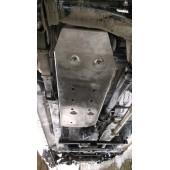 Защита топливного бака Toyota Hilux V-все, КПП-все (2015-) (Алюминий 4 мм)