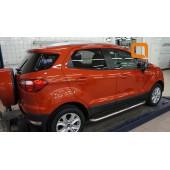 Пороги алюминиевые (Ring) Ford EcoSport (2014-)