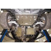Защита днища Honda Pilot V-3,5 (2011-) из 4 частей (Алюминий 4 мм) (алюмин.)