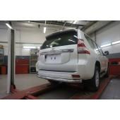 Защита заднего бампера Toyota Land Cruiser (Тойота Ленд Круизер) 150 (2009- /2014-) (одинарная) d 76