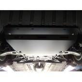 Защита картера двигателя и кпп Ford Focus (V-1.6, 2011-) / Grand C-Max (V-1.6T, 2011-)  (Алюминий 4 мм)
