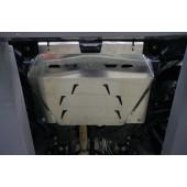 Защита картера двигателя и кпп Mazda (Мазда) CX-7 V-2.3, 2,5( 2007-) /Mazda (Мазда) CX-9 V-все (2013-) (Алюминий 4 мм)