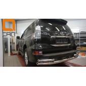 Защита заднего бампера Lexus GX460 (2014-) (одинарная с уголками) d 76/60