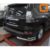 Защита заднего бампера Lexus GX460 (2014-) (уголки) d 76/42