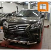 Защита переднего бампера Lexus GX460 (2014-) (Shark) d76/60