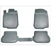 Коврики салона для Audi (Ауди) A4 (2001-2007)(серые)