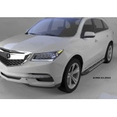 Пороги алюминиевые (Corund Silver) Acura MDX (2014-)