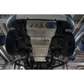 Защита днища Mitsubishi L-200, V-все; КПП-все (2015-) из 4х частей (радиатор,картер, КПП, РК) (Алюминий 4 мм)