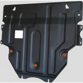 Защита картера двигателя и кпп Mazda (Мазда) 3 (V-все,2009-2013) / 5 (V-все, 2007-)  штамп. (Сталь 1,8 мм)