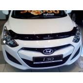 Дефлектор капота Hyundai i30 (2012-) (темный)