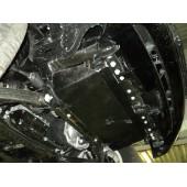Защита радиатора Nissan Patrol V-5.6 (2010-) (Алюминий 4 мм)