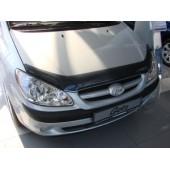 Дефлектор капота Hyundai Getz (2006-) (темный)