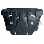 Защита картера двигателя и кпп Toyota Rav 4, V-2,0; 2,2D(2013-) (Композит 6 мм)