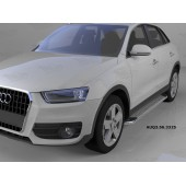 Пороги алюминиевые (Opal) Audi (Ауди) Q3 (2011-)