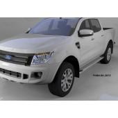 Пороги алюминиевые (Opal) Ford Ranger (2012-)