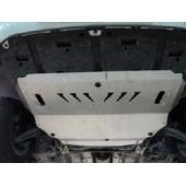 Защита картера двигателя и кпп Peugeot (Пежо) 308 V-все (2008-) /3008 V-все (2009-)  (Алюминий 4 мм)