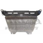 Защита картера двигателя и кпп Honda (Хонда) CR-V; V-2,0; 2,4 (2006-2012)  (Алюминий 4 мм)