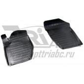 Коврики салона резиновые с бортиком для Citroen C4 (2006-2012) (2 передних)
