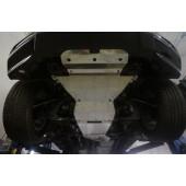 Защита днища Chevrolet Trail Blazer V-2.8TD, АКПП (2013-) 5 ч. (Алюминий 4 мм)