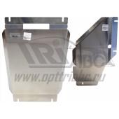 Защита АКПП+РК Chevrolet Trail Blazer V-2.8TD, (2013-) 2 ч. (Алюминий 4 мм)