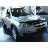Дефлектор капота Chevrolet Captiva (Шевроле Каптива) (2006-2012) (темный)
