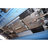 Защита днища Honda Accord V-2,4 ; 3,5 (2013-)из 5 частей (Алюминий 4 мм)
