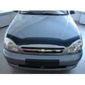Дефлектор капота Chevrolet Lanos (Шевроле Ланос) (1998-) / ZAZ Sens (темный)