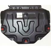 Защита картера двигателя и кпп Mazda (Мазда) CX-5 (V-все,2011-)/Mazda (Мазда) 3 (V-все,2013-)/Mazda (Мазда) 6 (V-все,2013-) штамп. (Сталь 1,8 мм)