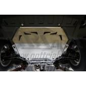 Защита картера двигателя и кпп Mitsubishi Outlander (Митсубиши Аутлендер) V-2.0;2.4;3.0 (10.2015-) (Алюминий 4 мм)