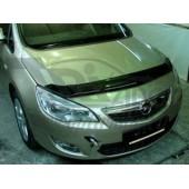 Дефлектор капота Opel Astra (Опель Астра) J, Хэтчбек (2010-) (темный)