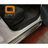 Пороги нержавеющая труба с листом C2 d60mm Hyundai Grand SantaFe (2012-)