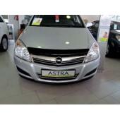 Дефлектор капота Opel Astra (Опель Астра) (2004-2009) (темный)