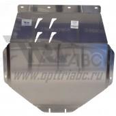 Защита картера двигателя и кпп Acura MDX V-3,5 АКПП (2014-)  (Алюминий 4 мм)