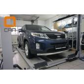 Защита переднего бампера Kia Sorento (Киа Соренто) (2012-) (одинарная) d 60*