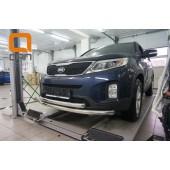 Защита переднего бампера Kia Sorento (Киа Соренто) (2012-) (двойная) d 60/60