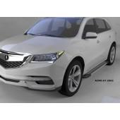 Пороги алюминиевые (Topaz) Acura MDX (2014-)
